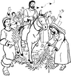 Palm Sunday Clipart Black And White.