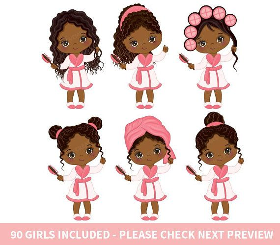 90 Little Spa Girls Clipart.