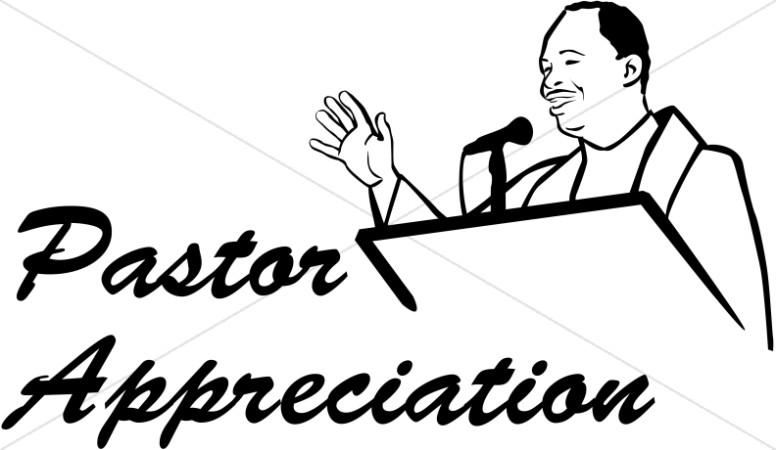 Pastor Appreciation in Black and White.