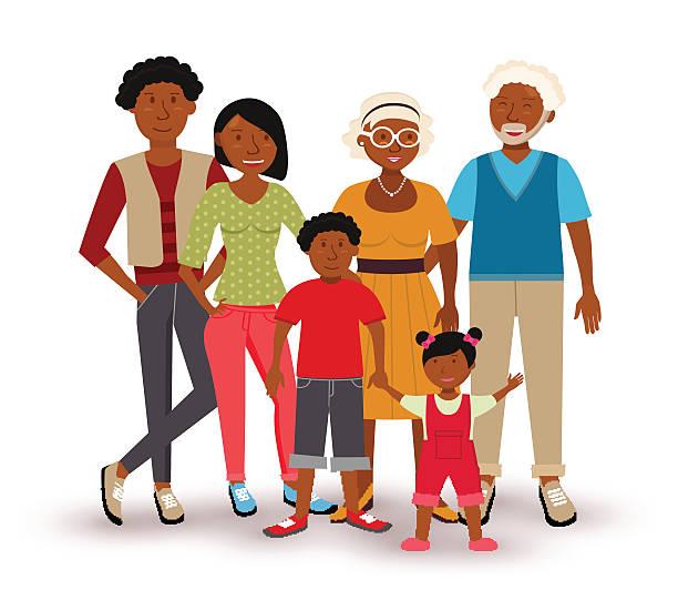 Best Black Family Illustrations, Royalty.