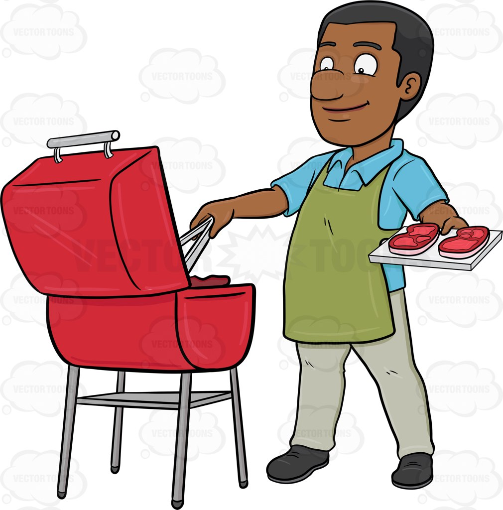 african american people grilling clipart transparent background #13