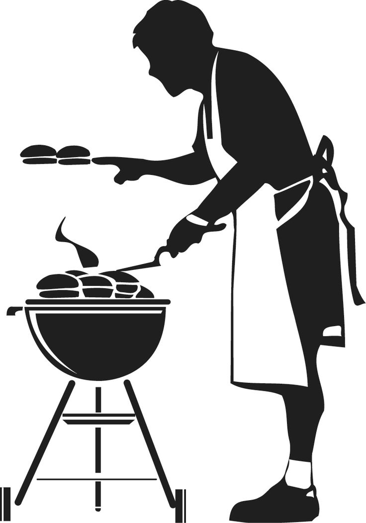 african american people grilling clipart transparent background #11