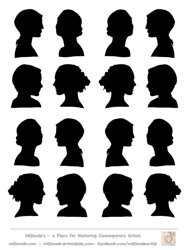 10 Face Profile Silhouette Clip Art Free Cliparts That You Can.