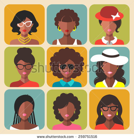 African American Face Stock Images, Royalty.
