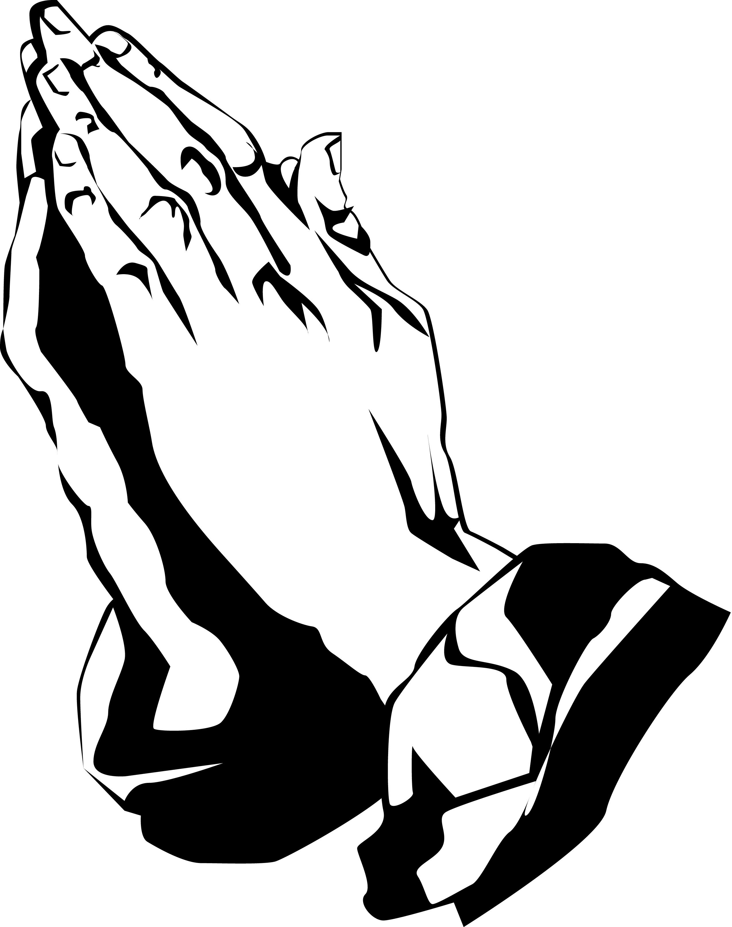 Black praying hands clipart 1 » Clipart Station.