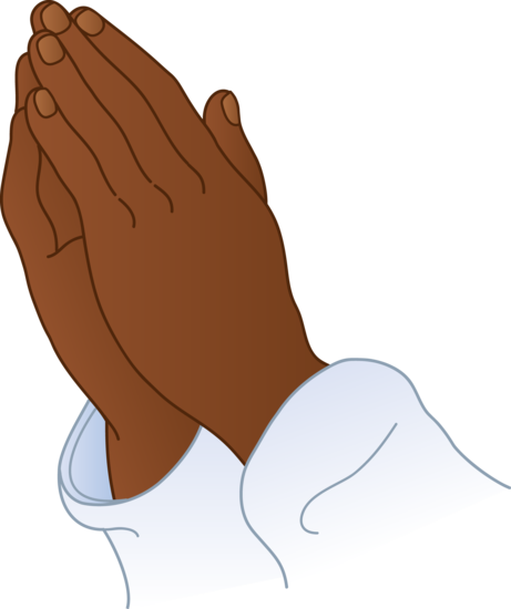 1742 Praying Hands free clipart.