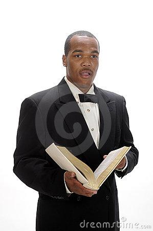 African American Preacher Giving Sermon Stock Photos.