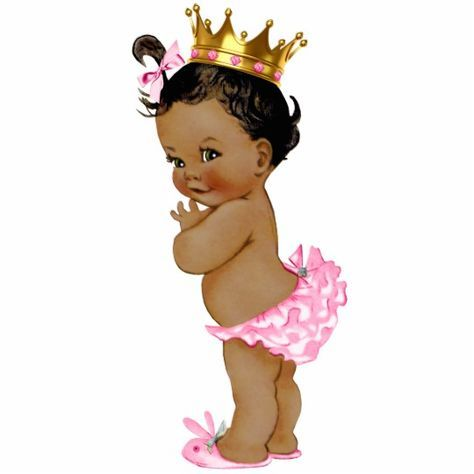 Ethnic Princess Baby Girl Shower Statuette.