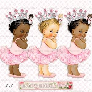 Black Baby Girl With a Crown.
