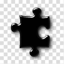 Black Glass Layer Style, black puzzle piece transparent.
