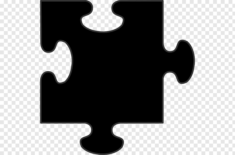Black jigsaw puzzle, Jigsaw Puzzles, Puzzle Piece free png.