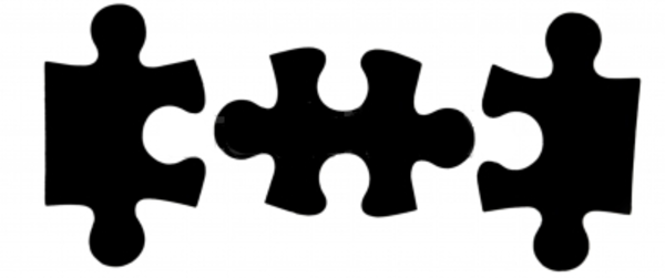 Puzzle Pieces Black.