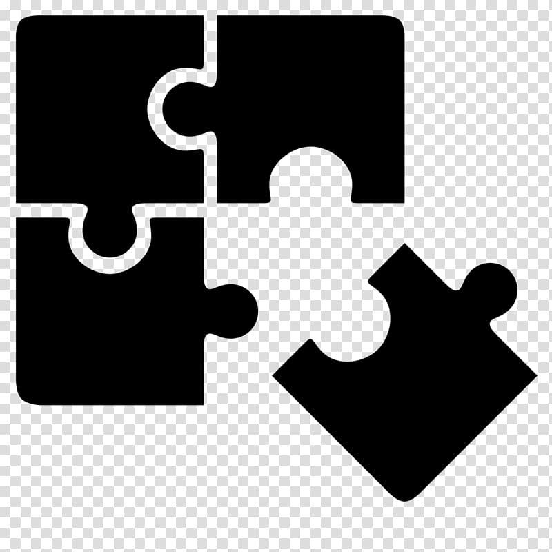 Black puzzle logo, Portal Jigsaw Puzzles Computer Icons.
