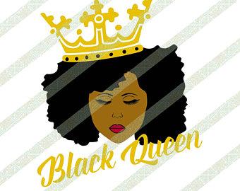 African American Queen Clipart.