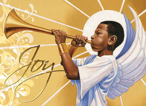 African American Religious Christmas Clipart.