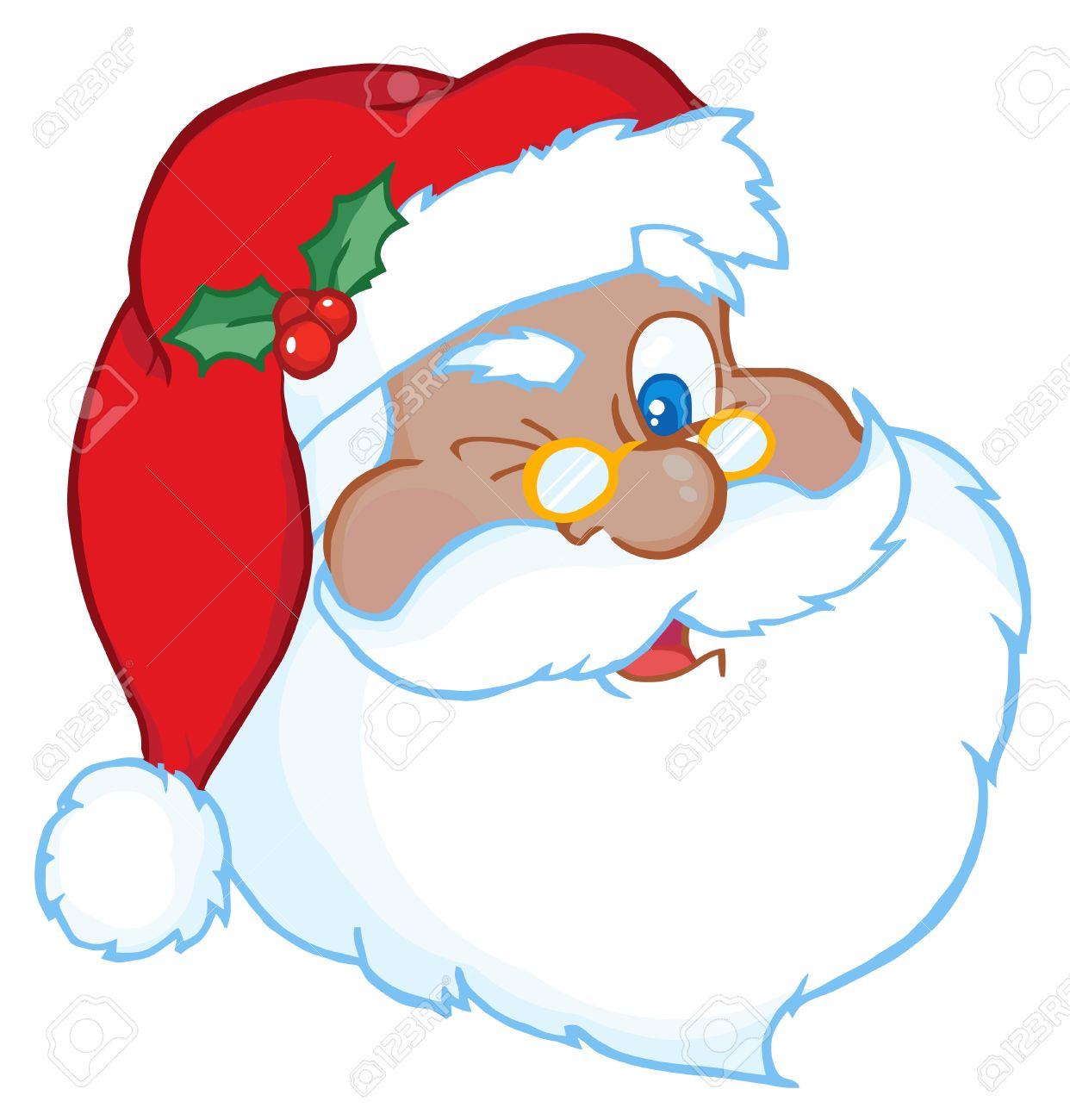 African American Santa Claus Winking.