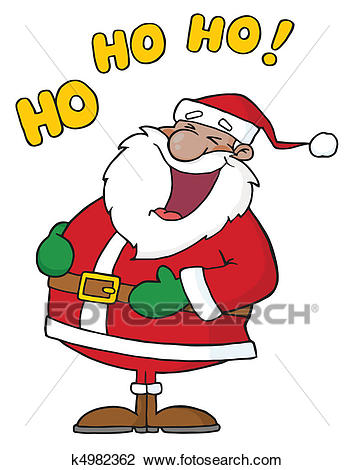 African American Santa Claus Clipart.