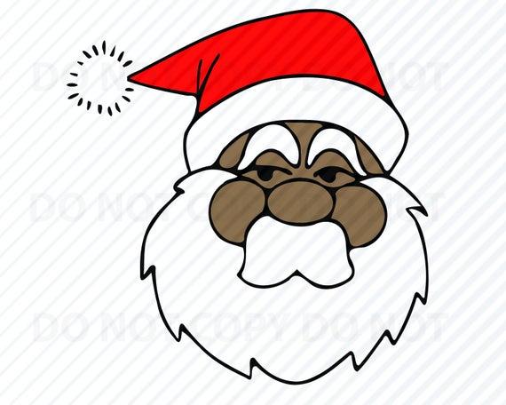 African American Santa Claus SVG Files for Cricut.