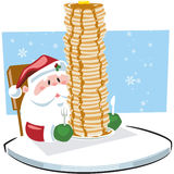 african american santa claus with pancakes clipart #13