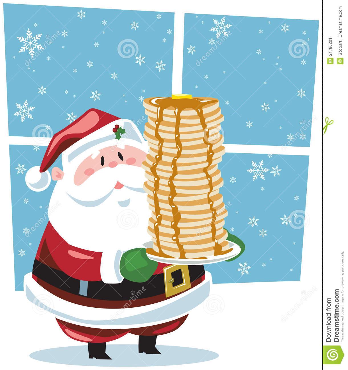 Santa Pancakes Clipart.