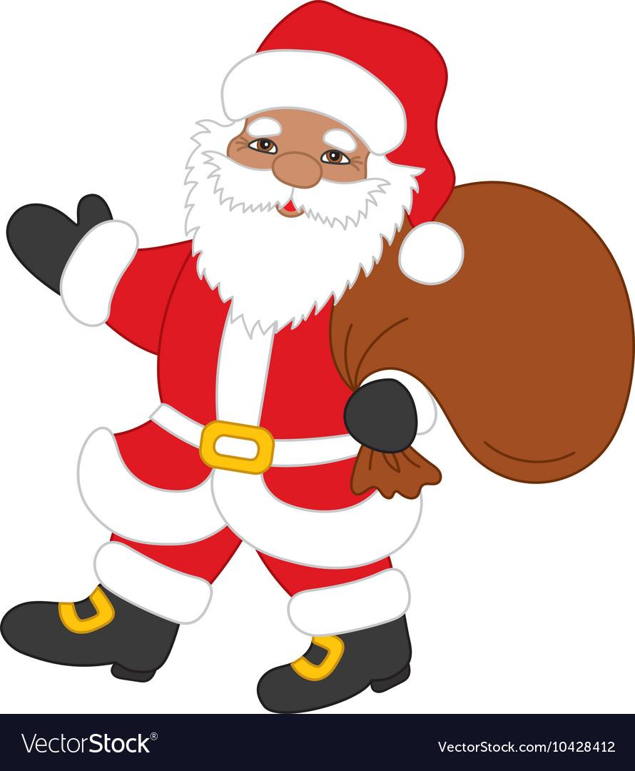 Christmas African American Santa Claus.