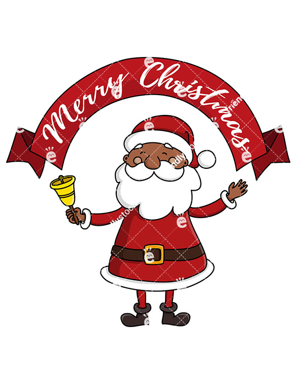 Black Santa Claus Clipart.
