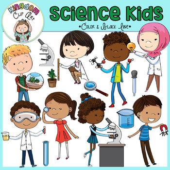 Science Kids Clip Art.