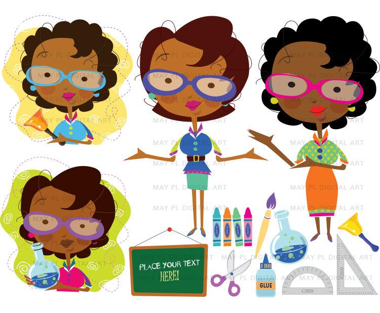 Female Science Teacher Clipart.