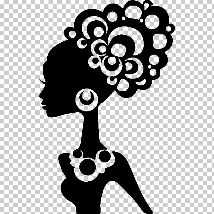 Black hair Silhouette Afro.