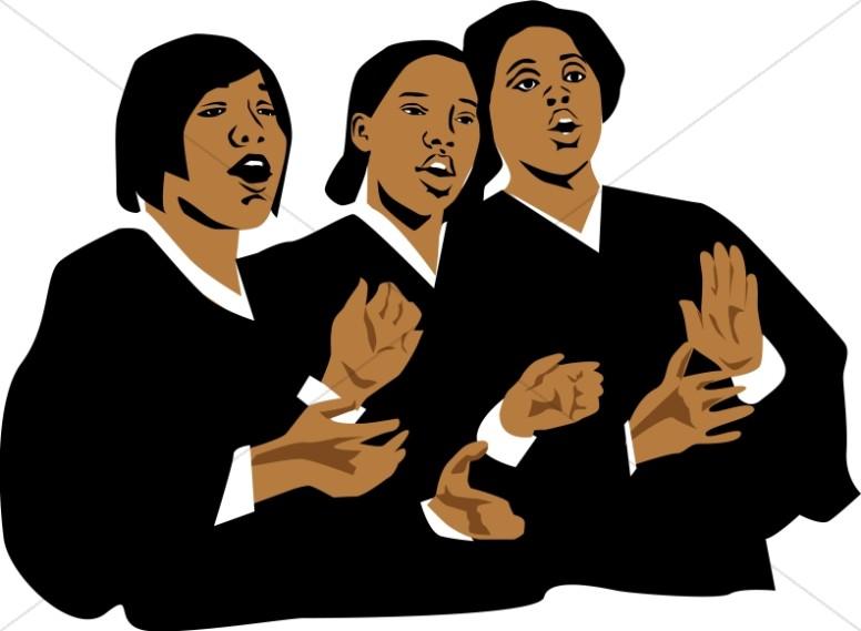 African American Gospel Singers Clipart.