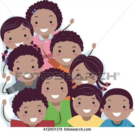 African American Students Clipart.