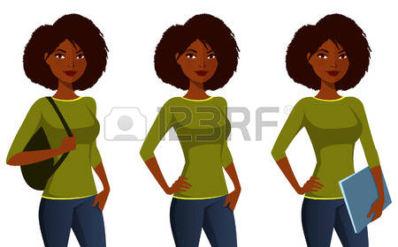 1,162 African American Student Cliparts, Stock Vector And Royalty.