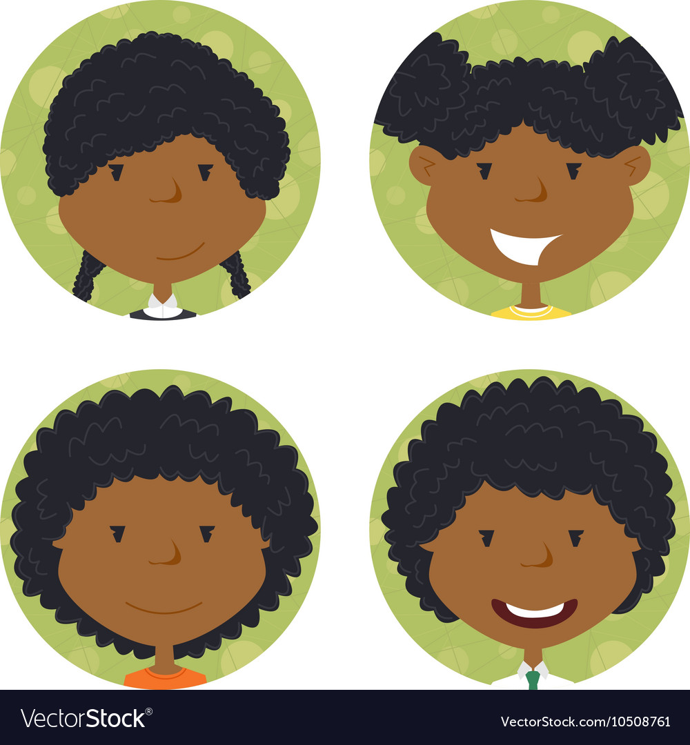 African american school girls avatar.