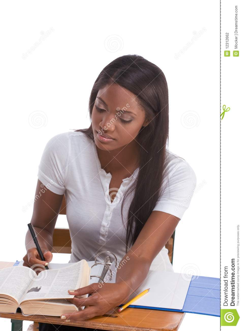 College Student African American Woman By #433064.
