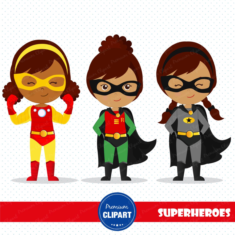 Superhero Girl Cliparts.