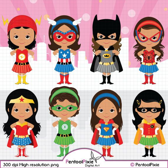 African American, Superhero girls clipart, Girl power.