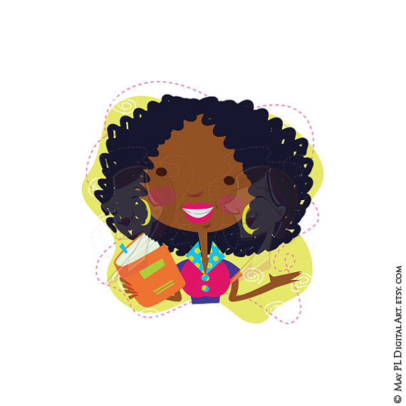 10698 African free clipart.
