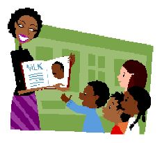 African American Teacher Clipart.