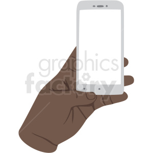 african american hand barely holding phone vector clipart . Royalty.