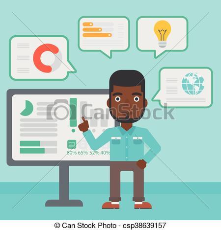 Man making business presentation..