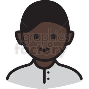 african american boy avatar vector clipart . Royalty.