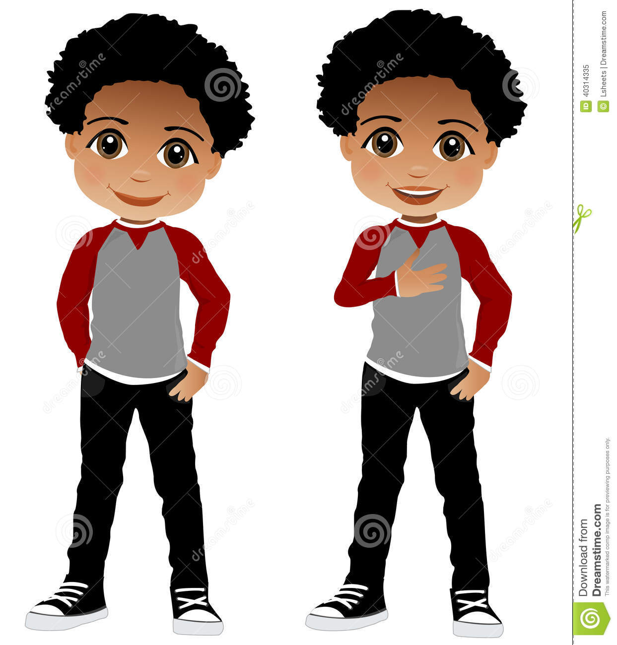 African American Child stock vector. Illustration of children.