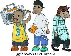African American Teens Clip Art.