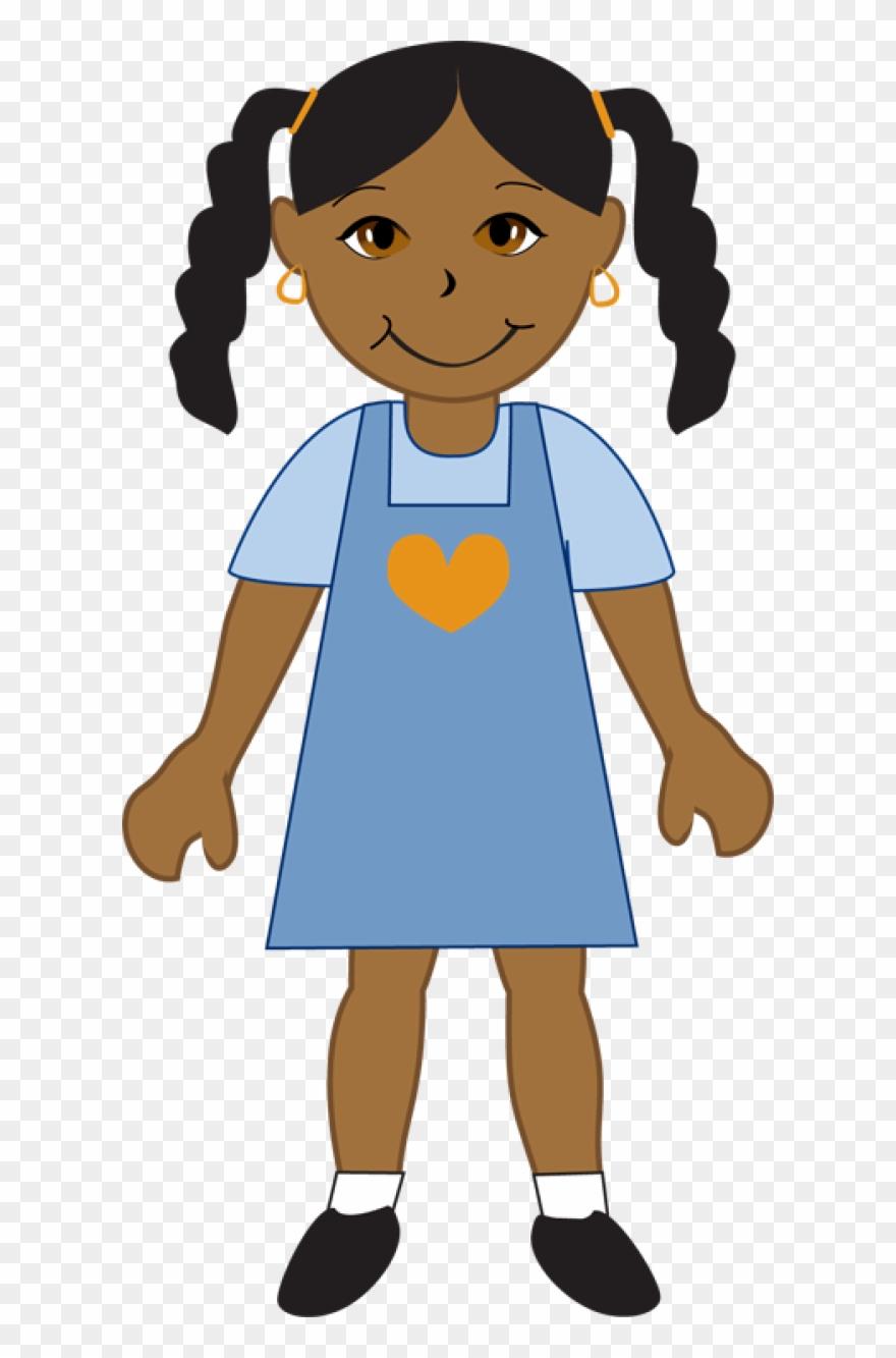 Clip Art African American Girl.