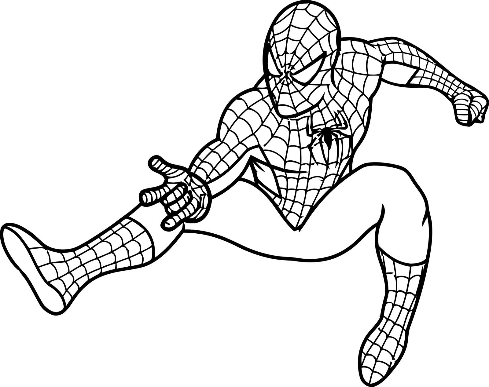 Spiderman spider man black and white clipart clipartfest 2.