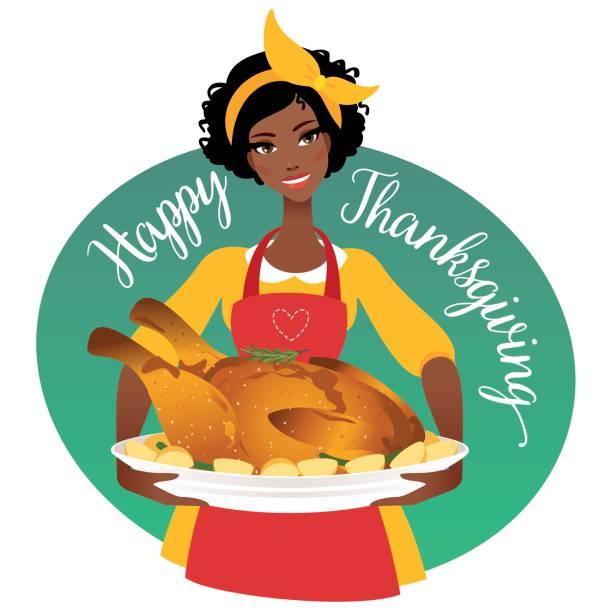 Thanksgiving clip art african american.