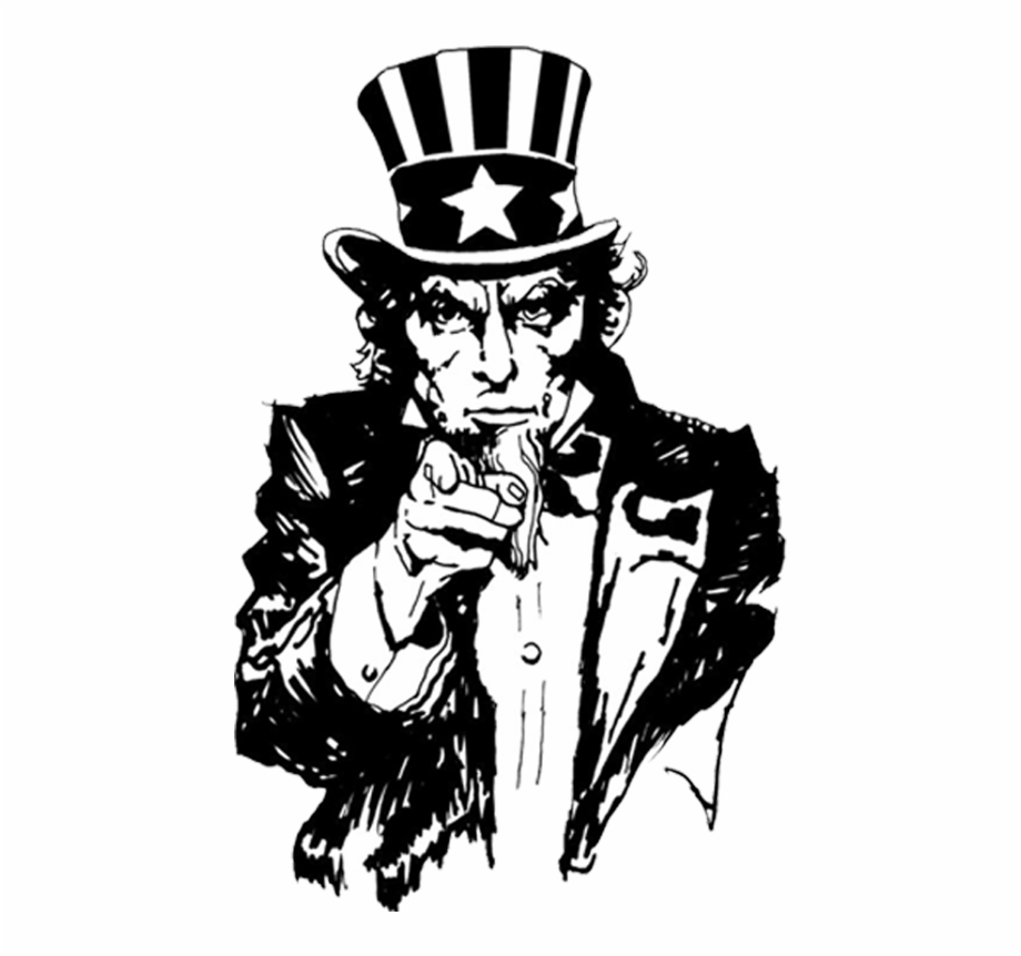 Emblem Uncle Sam Uncle Sam Clipart Black And.