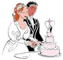 African American Wedding Clipart.
