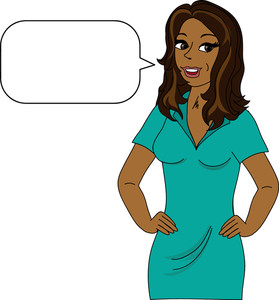 Free African American Woman Clipart Image 0515.
