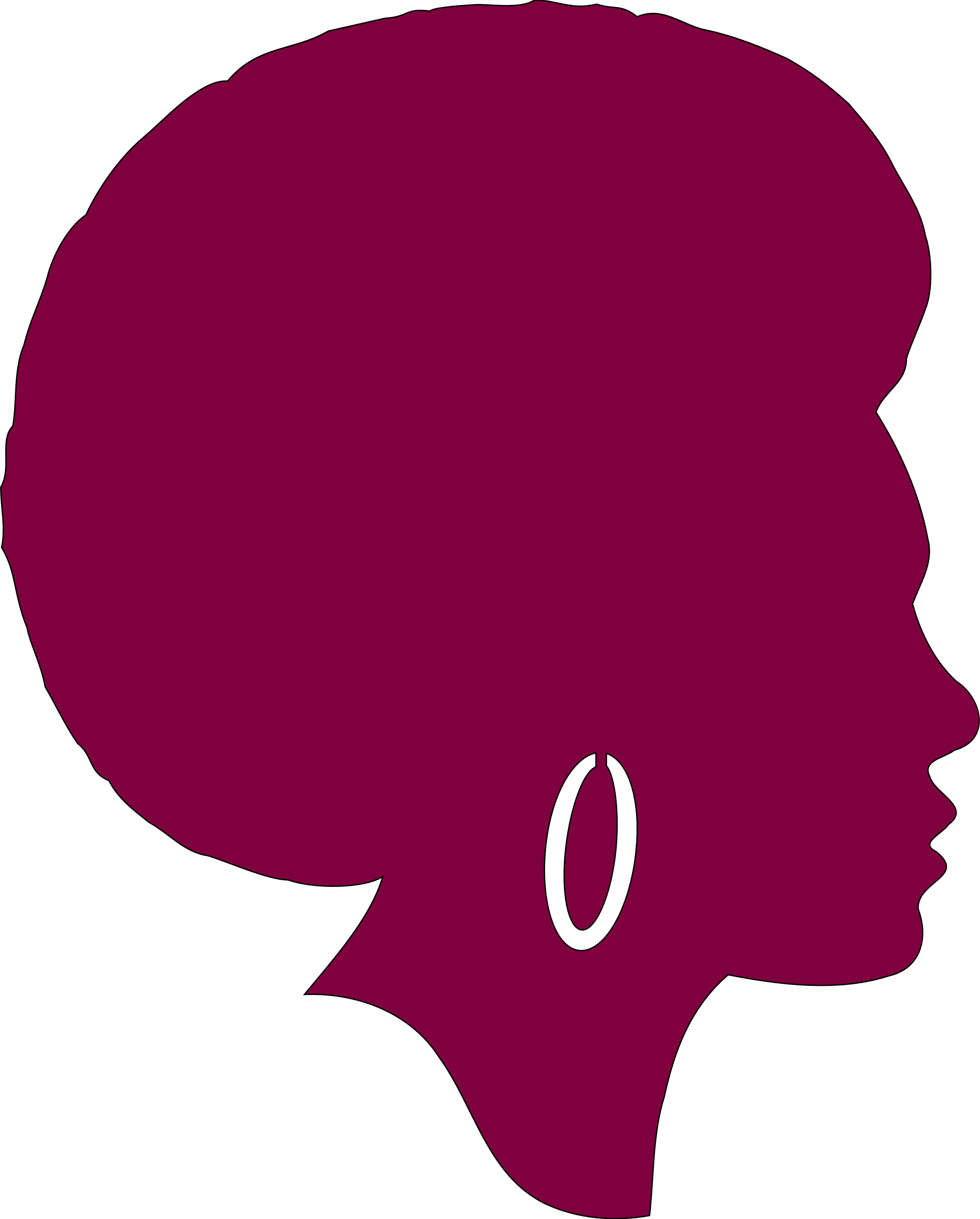 Svg Free Clipart African American Female.